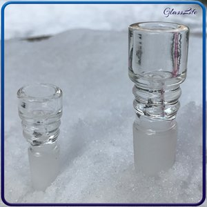 Стеклянные чаши водяные трубы курительные бонги 14 мм 18 мм мужские четкие скользиты кальяны для толстого пирекса нефтяной горелки барбогрен пепец
