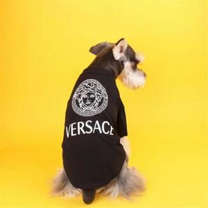 Yaz Son Baskılı Pet Gömlek INS Moda Yumuşak Dokunuş Pet Tasarımcı T-shirt 3 Renk Kişilik Charm Bulldog Teddy Giyim