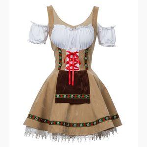 Costume Sexy Girl Oktoberfest Beer Maid rapariga Alemanha Bavarian manga curta Fancy Dress Dirndl para as Mulheres Cosplay