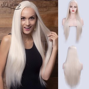 Synthetic Lace I's a wig 13X4 Long Straight Synthetic Lace Front Wigs 60 Blonde Black Pink Heat Resistant Wigs With Natural Part Wig
