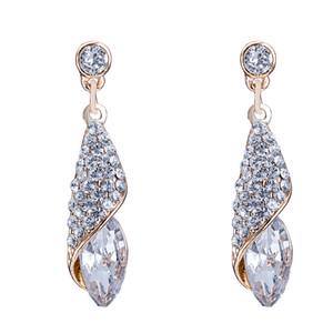 Schöne Designed Ohrringe Wassertropfen Muster Mosaik Glas Imitation Gold Überzogene Baumeln Kronleuchter Ohrring Zubehör Prom Geschenke POTALA040