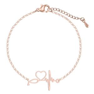 Articoli da regalo di alta qualità dell'acciaio inossidabile di modo fascino Heartbeat cardiogramma Stetoscopio Bracciali braccialetto delle donne speciali per gioielli Nurse