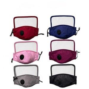 2 in 1 Face Shield Mask Plastic Screen Full Face Protection Isolation Masks Anti Dust Fog Protective Mask Shield LJJO8063