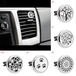 30 mm de acero inoxidable Fragancia Air Car Vent Clip Ambientador Aceite esencial Difusor de perfume con almohadillas de recarga de fieltro lavables