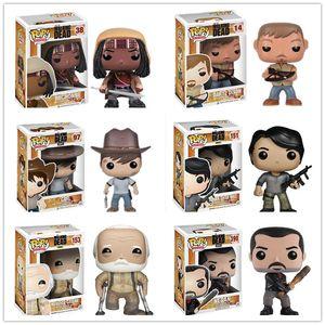 Funko POP The Walking Dead Charakter # 151 Glenn # 38 Michonne # 97 Carl Action Figure Modell Spielzeug # 14 Daryl Vinyl Puppe Geburtstagsgeschenk SH190908