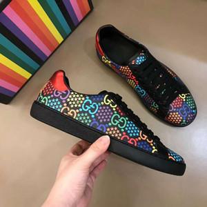 2020NEW hombres de las mujeres de la estrella tachonado zapatos de malla y cuero tachonado zapatos camuflaje Combo estrellas de rock y Corredor metálico Zapatos Mujer 38-44 RD28