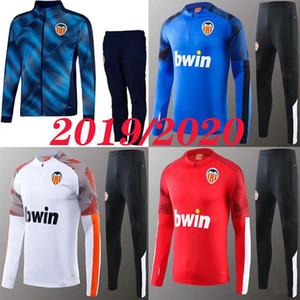 2019 2020 Valencia veste de football longue fermeture éclair Valencia Sport 19 20 formation de football Survêtement jersey