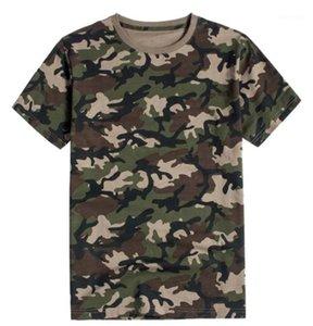كم نصب منصة الرجال تيز عارضة الذكور الملابس التمويه طباعة مصمم رجالي بلايز موضة طاقم الرقبة قصيرة