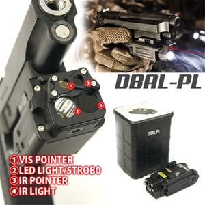 전술 DBAL 적색 레이저 라이트 콤보 Airsoft LED 손전등 페인트 볼 사냥 총 권총 무기 라이트