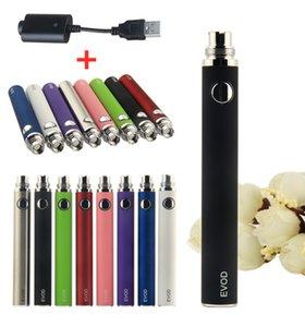 100% Quality EVOD batteries + USB Charger 510 thread battery 650 900 1100mAh Vaporizer Pen for EGO CE4 MT3 PK kangertech evod ecig