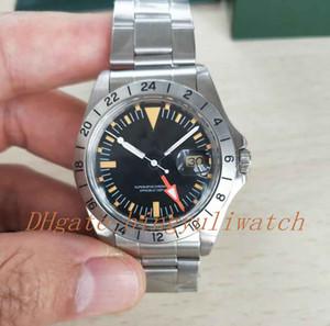 BP fábrica do vintage Melhor Edição R-GMT 1972 1655 modelo de aço inoxidável EXP LORER II Asia 2813 automático com indicação de data Men relógio