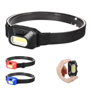 Mini COB LED Headlamp Hoofdlamp Feurlight Frontal para el acampado al aire libre Cabeza de pesca Lámpara de luz Linterna linterna