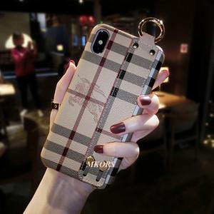 Lüks Anti-Skid Tasarımcı Telefon Kılıfı Bilek Kayışı Tembel Tutucu Telefon Kapak iphone X XS MAX XR 8 8 artı 7 7 artı 6 6 s Artı Kılıfları