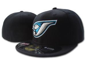 Heißer verkauf blau jays ausgestattet hüte auf feld baseball geschlossen kappen in schwarz für männer, frauen modemarken kanada team sport männer ausgestattet h