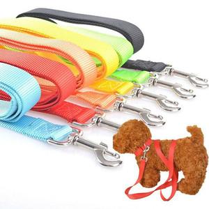 Fuerte de nylon del correo del plomo del animal doméstico con el clip para collar del arnés de distintos color 120cm
