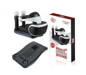 Os mais recentes PSVR doca de carregamento Estação Stand Holder Multifuncional armazenamento para 2 ª Geração Playstation 4 PS4 VR Headset Processor Mover Controll