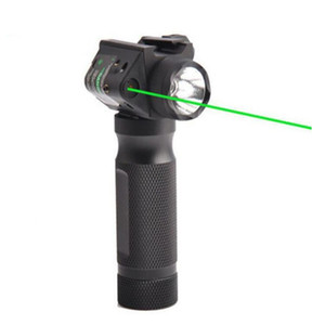 Tactical Fore grip Luz dura Linterna LED con reemplazo de modificación de láser verde Vista adecuada para la caza de pistola 20 mm