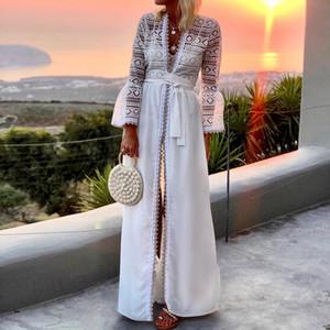 Lace Crochet Dress Women Hollow Out Maternity Dresses Elegant Party Cardigan Robe 2020 Summer Vestidos Pregnancy Sundress