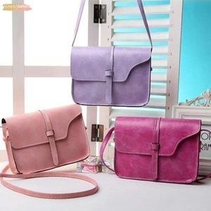 Simple Flap Shoulder Pu Leather Bags Women Small Messenger Shoulder Bag Mini Ladies Square Bag Pure Color Crossbody Bag