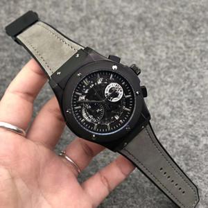 Neue Marken-Mann-Uhr-Qualitäts-Gummibandes VK Bewegung Chronograph Quarz-Uhr Alles Funktions Arbeit Sport Herrenuhr