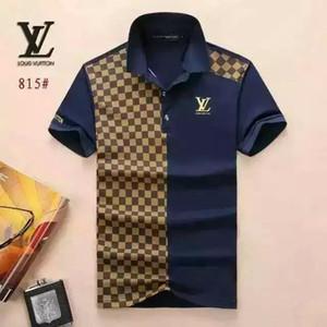 2020 İtalya tasarımcı Ekose polo gömlek t shirt Lüks Marka polos Moda Letter nakış erkek Yüksek sokak Mürettebat Boyun polo tişört