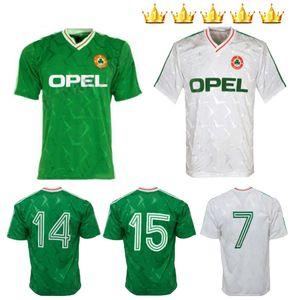 1990 1992 Top Qualität Irland retro Fußball-Trikot WM 1990 Irland Home Classic Jersey Vintage Irish Sheedy Größe Fußballhemden