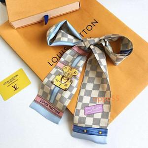 marca mais vendida lenço luxo saco 100% de alto grau de novo das mulheres lenço lenço 7x120cm SS01