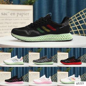 2020 New AlphaEdge x ZX 4000 Futurecraft 4D Triple Black White Yellow Stripe Casual Shoes Best Quality Kids Men Women Outdoors Shoes