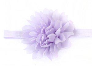 Fiori chiffon all'ingrosso con perla strass Centro fiore artificiale fiori del tessuto dei capelli dei bambini accessori le fasce del bambino Flower # 500