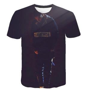 Hombres de diseno Camisetas de rap Nipsey Hussle 3D imprimió las camisetas para hombre del verano de las mujeres Casual Tops manga corta