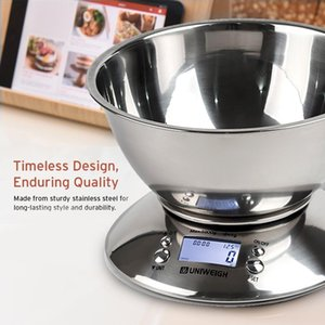 Balance de cuisine numérique de haute précision 11lb / 5 kg alimentaire échelle avec Cuve amovible température ambiante, Alarme minuterie en acier inoxydable Balance