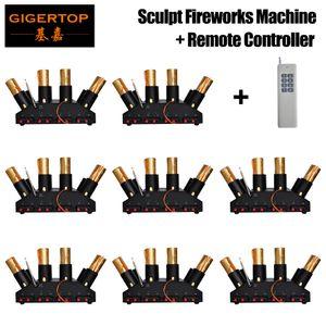 Freeshipping TP-T13 Sculpt Feuerwerk-Maschine mit Fernbedienung 110V / 220V / AA-Batterie Arbeits Unterstützung 8 Steuerkanäle