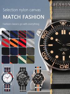 Sostituzione Nato 19 millimetri 20 millimetri 21 millimetri 22 millimetri Black Metal in nylon Cinturino cinturino cintura con fibbia ad ardiglione vigilanza del wristband per l'uomo con gli strumenti