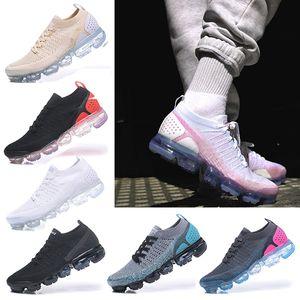 Nike Air VaporMax 2018 Women shoes Gelenler Erkek kadın klasik Koşu Ayakkabı Siyah Beyaz Spor Şok Koşu Yürüyüş Yürüyüş Koşu ayakkabı 36-40