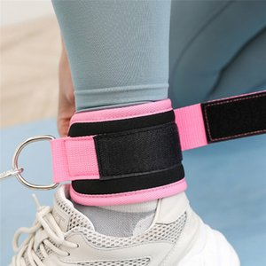 Hot! Pull Rope Ankle Strap Door Fittings BuAnchor Lift Exercise Elastic Band With Foot Ring Leggings Buckle Ankle Strap Set