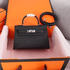 Designer- Lüks Çantalar Cüzdanlar Omuz Çantaları Stil Mini Kayış Crossbody Bez İnek Yüksek Kalite Gerçek Deri Çanta Freeshipping 20cm