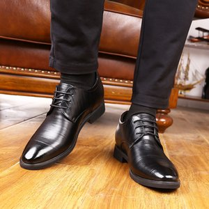 Crystal2019 Adams Jun Zapato masculino especial Otoño Asuntos comerciales Vestido correcto Hombre dentro de aumento Zapatos de cuero Hombre 6cm Inglaterra Sexy