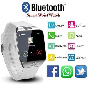 2018 New Design Electronic Intelligent Sport Gold Smart Wristwatch Dz09 Pedometer For Women Men Unisex Clock Orologio Uomo Y19051503