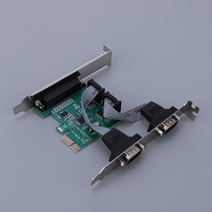 2x DB9 RS232 9 Pin Serial + 1x DB25-Port LPT1 Drucker Combo PCI-Karte PC Computer Parallel