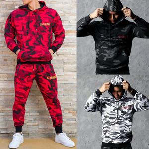 Caliente con capucha de los hombres de la camiseta de las tapas suda Hip-Hop de la calle estilo fresco con capucha del chándal GYM Rey camuflaje sudaderas