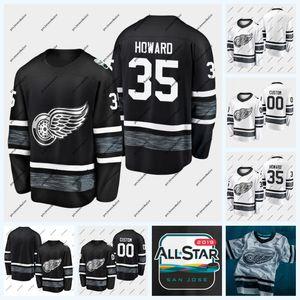 35 Jimmy Howard Detroit Red Wings 2019 All-Star Game Hockey Jersey 71 Dylan Larkin 14 Gustav Nyquist 72 Andreas Athanasiou 59 Tyler Bertuzzi
