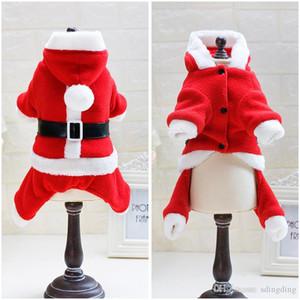Vestido de Navidad para mascotas 5 Tamaño Elk Santa Puppy Suit Classic Euramerican Pet Dog Ropa de Navidad Ropa para mascotas al por mayor DH0309