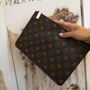Nouveau Brun Noir classique simple motif géométrique Porte-monnaie Sac à main de haute qualité délicat portefeuille portable hommes et femmes Sacs d'affaires