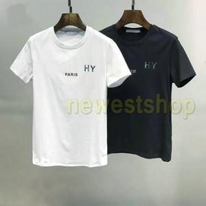 2020 neue Sommer-Paris Mens Helle Buchstabedruckes T-Shirt Mode-Qualitäts-T-Shirts Art und Weise der Frauen Baumwollbeiläufiges Designer-T-Shirts