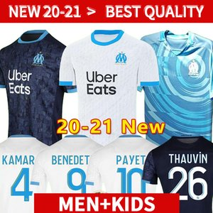 20 21 marseille Fußball Jersey 2020 2021 Kinder-Kits 120th olympique de Fußball Jerseyshemden olympique de marseille maillot de foot