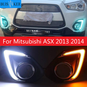 Light For Mitsubishi ASX 2013 2014 LED DRL COB Daytime Running Light Daylight Waterproof Fog Head Lamp Signal Front Bumper White