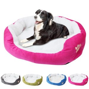Dog bed house sofa Puppy Cat Fleece Winter Warm Bed Plush Cozy Nest Mat Pad Fleece Dog House 2020