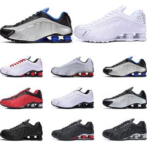 shox shoes Mens R4 NZ Designer de tênis de corrida Branco preto ouro Metálico vermelho COMET OG RACER AZUL atacado tênis esportivos Tamanho 40-45