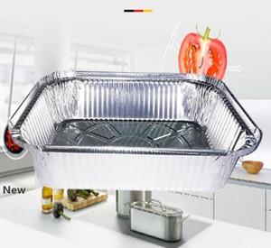 Papel de aluminio Pan Chafing sartenes Vajilla de Aluminio vapor Tabla profundo Pans Roaster Pans Contenedores con tapa GGA2982-3