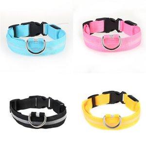 Mais cores High Grade Hot Pure couro Pet Led Collar couro real Cadeia Dog espessamento Acessórios Dog 4 Tamanho # 549